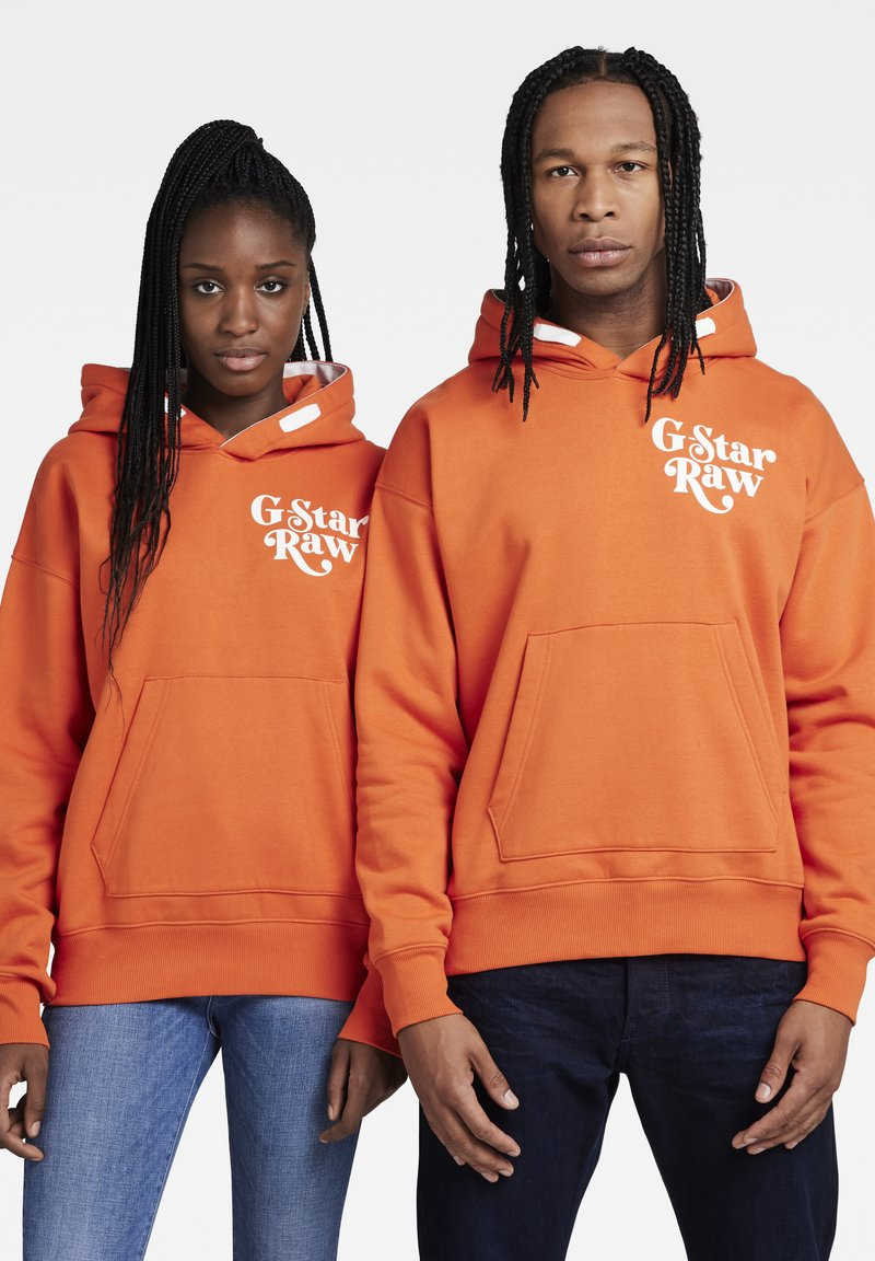G-Star - PREMIUM CORE OVERSIZED HDD SW - UNISEX - Hoodie - acid orange