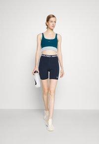 Nike Performance - SHORT HI RISE - Collants - obsidian/white - 1