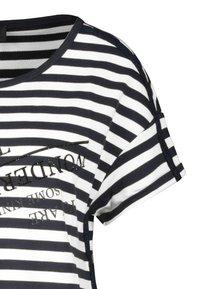 Monari - GESTREIFT - Day dress - black, white - 3