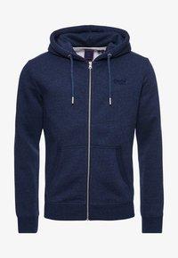 Superdry - VINTAGE LOGO EMBROIDERED - Zip-up sweatshirt - vintage navy marl - 5