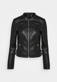 Vero Moda - VMLOVE SHORT COATED JACKET - Imitert skinnjakke - black - 4