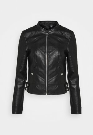 VMLOVE SHORT COATED JACKET - Faux leather jacket - black