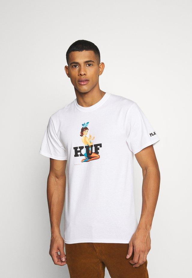 PLAYBOY BUNNY LOGO TEE - T-shirts med print - white