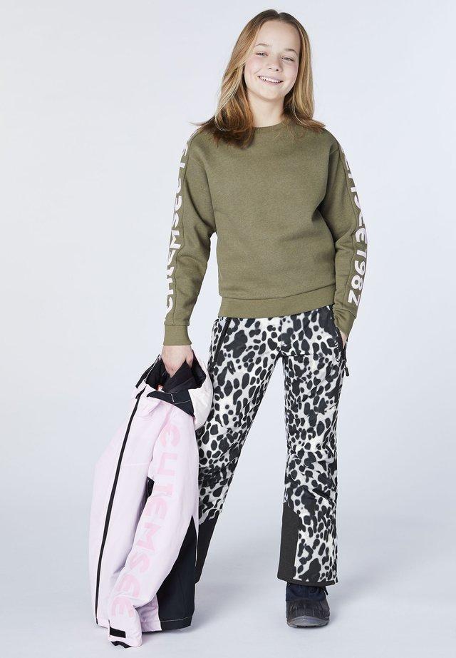 ATMUNGSAKTIV, WINDDICHT UND WASSERDICHT - Outdoor trousers - l grey/blck aop