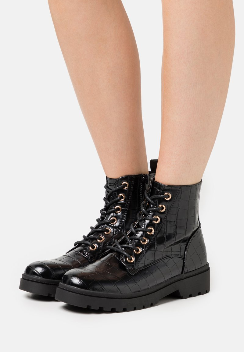 New Look - BOATING  LACE UP - Bottines à lacets - black