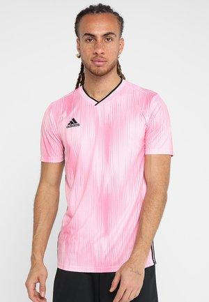 TIRO - Triko spotiskem - pink/black