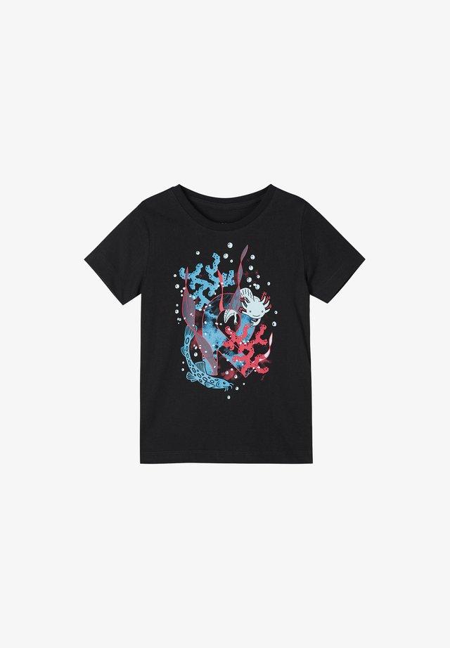 AJATUS - Print T-shirt - black