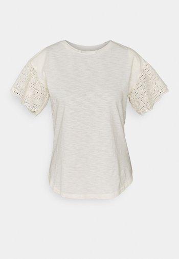 INDIE SLUB - Print T-shirt - mascarpone/cream