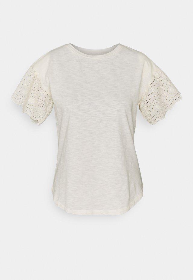 INDIE SLUB - T-shirt con stampa - mascarpone/cream