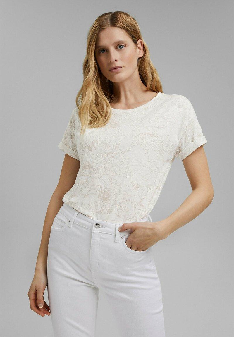 Esprit - Print T-shirt - off white