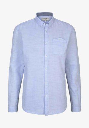 Koszula - light blue  twisted yarn dobby