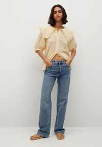 Mango - Button-down blouse - geel - 1