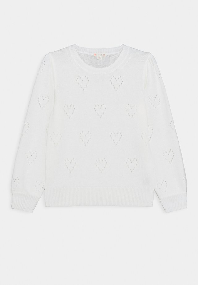 POINTELLE HEART POPOVER - Maglione - ivory