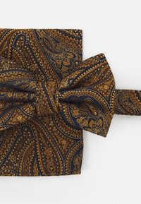 Burton Menswear London - PAISLEY BOWTIE AND HANKIE SET - Rusetti - brown - 5