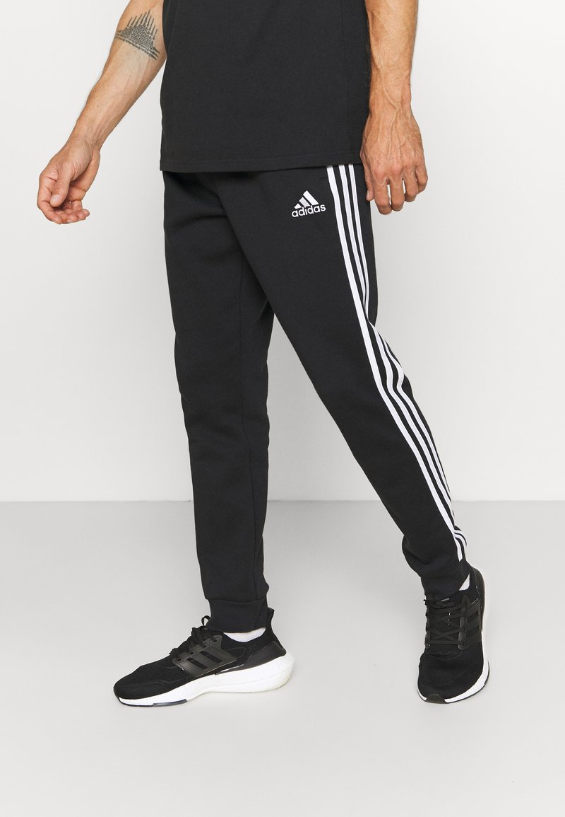 adidas Performance - 3 STRIPES  ESSENTIALS - Träningsbyxor - black/white