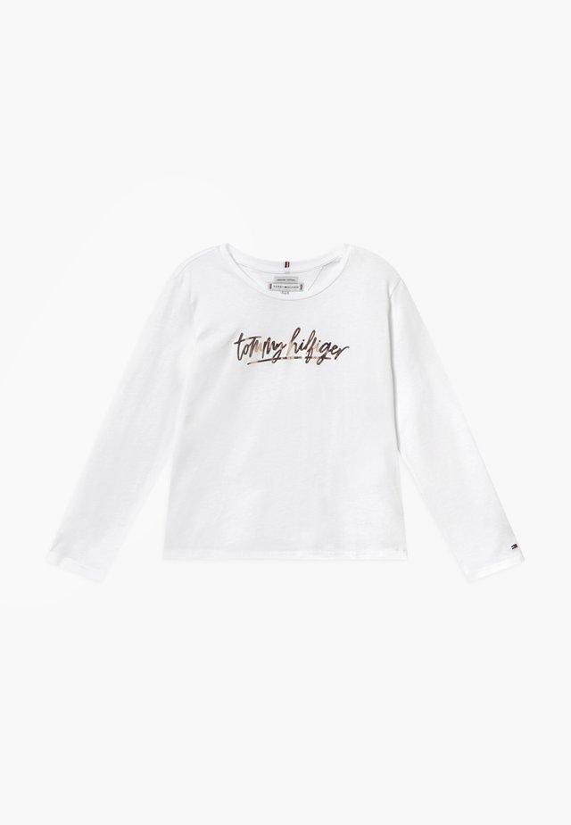 VINYL - Long sleeved top - white