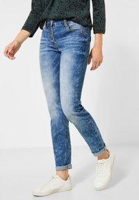 Cecil - Slim fit jeans - blau - 0