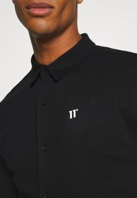 11 DEGREES - TEXTURED MUSCLE FIT  - Shirt - black - 4