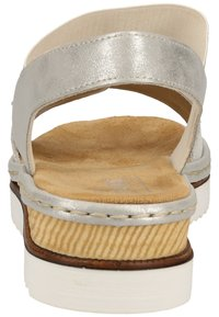 Rieker - Wedge sandals - silver/frost 90 - 3