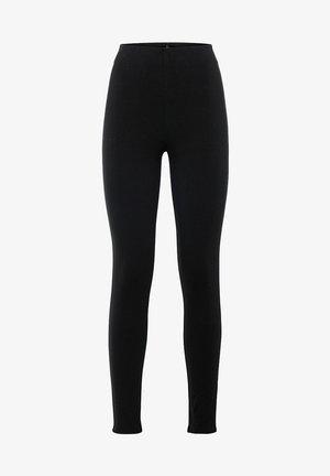 aus Interlock - Leggings - Trousers - schwarz