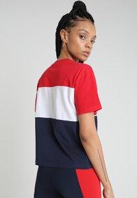 Fila - ALLISON - Print T-shirt - black iris/true red/bright white - 2