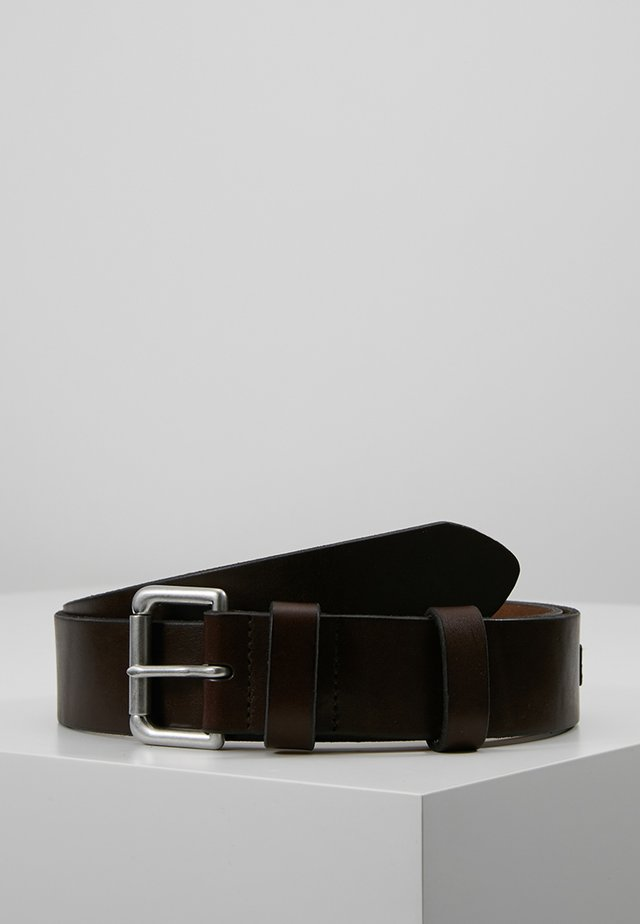 ROLLER BUCKLE BELT - Belt business - brown