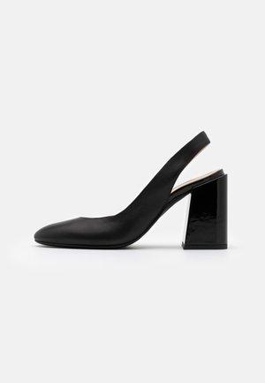 BLOCK SLING BACK  - High heels - nero