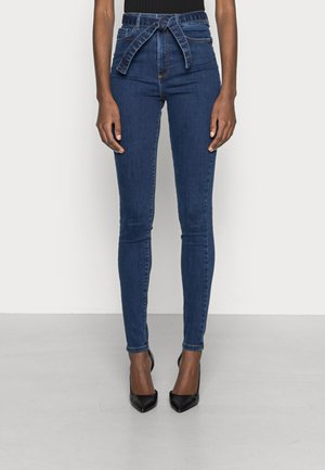 VMLOA BELT SKINNY - Jeans Skinny Fit - dark blue denim
