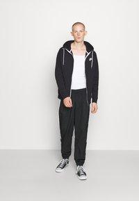 Nike Sportswear - MODERN HOODIE - Zip-up hoodie - black/ice silver/white - 1
