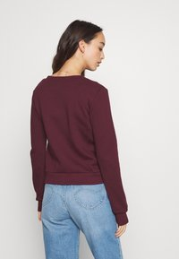 Anna Field - REGULAR FIT ZIP UP SWEAT JACKET - Zip-up hoodie - bordeaux - 4