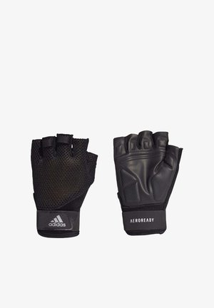 TRAINING GLOVES - Fingerless gloves - black