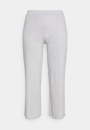 PCSIMINIA PANTS CURVE - Trousers - light grey melange