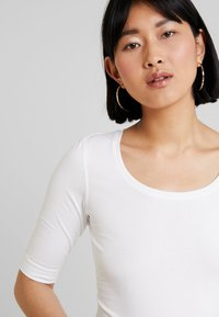 Opus - SANIKA - Basic T-shirt - white - 4