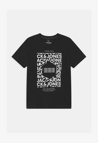 Jack & Jones Junior - JCOAKE CREW NECK  - Print T-shirt - black - 0