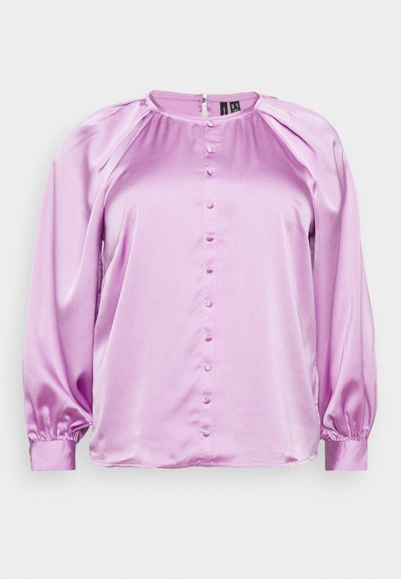 Vero Moda Curve - VMBILLI BUTTON - Blouse - violet tulle