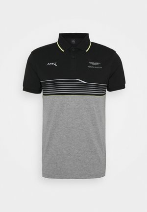AMR STRIPE POLO - Koszulka polo - black/grey