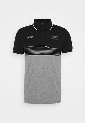 AMR STRIPE POLO - Polo - black/grey