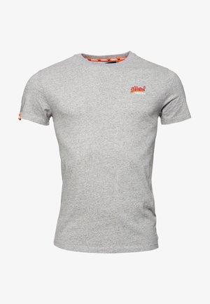 MIT STICKEREI AUS DER ORANGE LABEL KOLLEKTION - T-shirts basic - pumice stein meliert