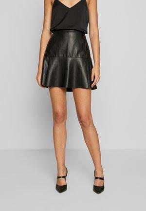 ONLELLA SKIRT - Mini skirt - black