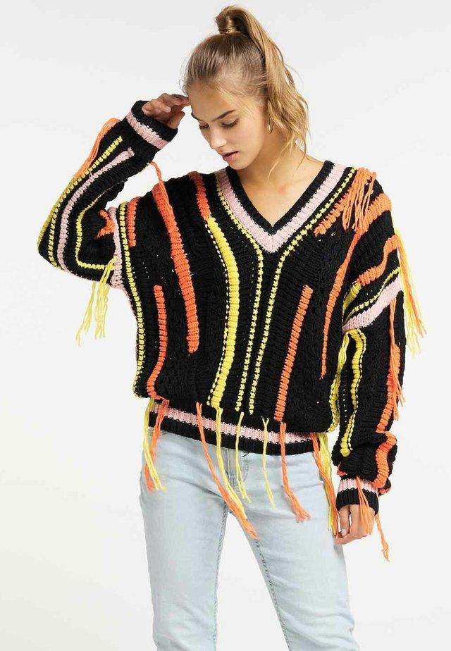 Stickad tröja - multi-coloured