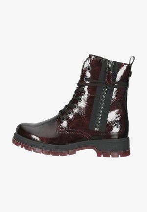 Lace-up ankle boots - bordeaux pat.