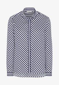 Eterna - MODERN FIT - Button-down blouse - navy blue/white - 3