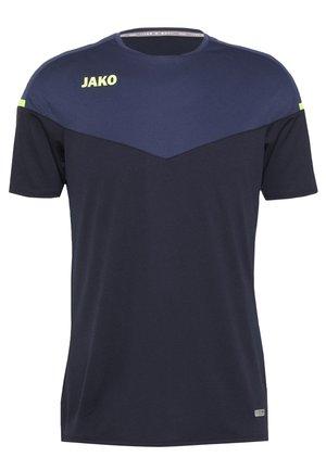 CHAMP 2.0 - Print T-shirt - marine/blue/neongelb