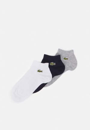 ANKLE SOCK 3 PACK UNISEX - Trainer socks - silver chine/navy blue/white