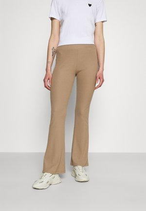 ONLNELLA FLARED PANT - Leggings - Trousers - toasted coconut