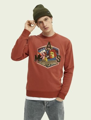 EMBROIDERED GRAPHIC  - Sweatshirt - red