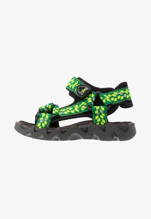OLLY - Walking sandals - nero/verde