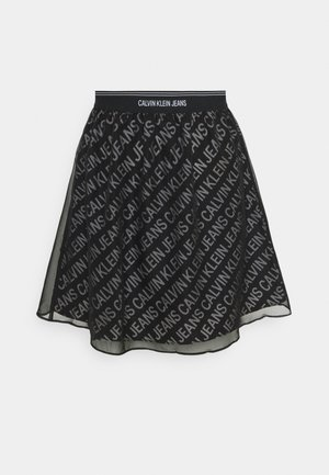 LOGO WAISTBAND SKIRT - Mini skirt - black