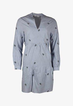 WILMA - Day dress - blau/weiß