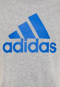 adidas Performance - UNISEX - T-shirt print - mid grey heather/blue - 2